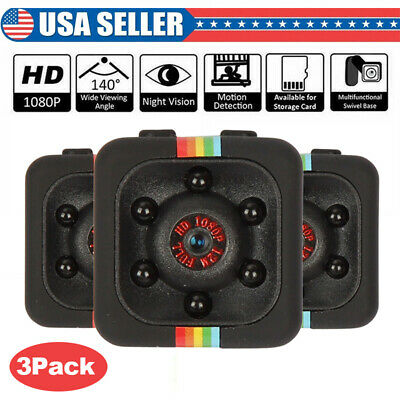 3X SQ11 Full HD 1080P Mini Car Hidden DV DVR Camera Spy Dash Cam IR Night Vision