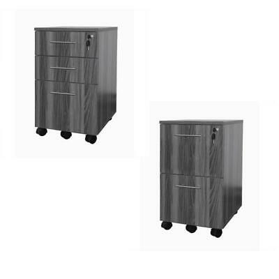 Mayline Office Pedestal Filing Cabinets in Gray Steel