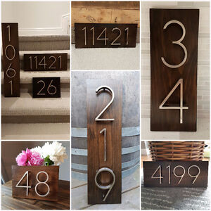 Address Plaque, House numbers.  House Warming gift.