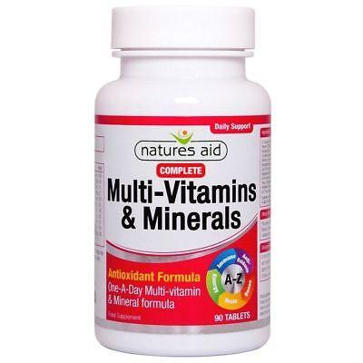 Natures Aid Komplette Multi-Vitamine & Mineralien 90 Tabletten 1 2 3 6 12 Packs - Komplette 90 Tabletten