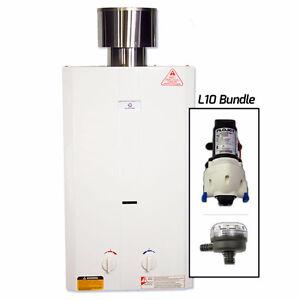 Chauffe-eau instantané Eccotemp L10 (Pompe Flojet 12V & Filtre)