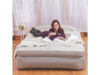 AeroBed Opti-Comfort Queen Air Mattress With Headboard RRp £165