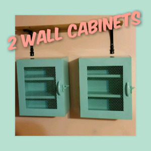 2 Metal Wall Cabinets