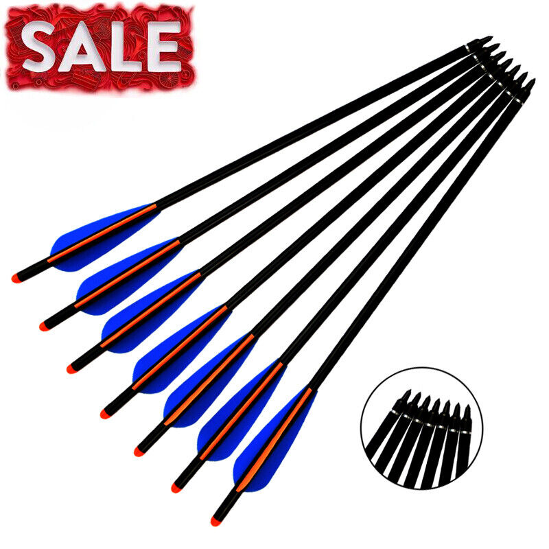 Archery Hunting Crossbow Bolts Aluminum Arrows with125 Grain Screw-In Points