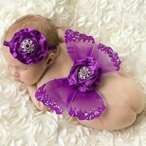 Butterfly wing and headband newborn prop