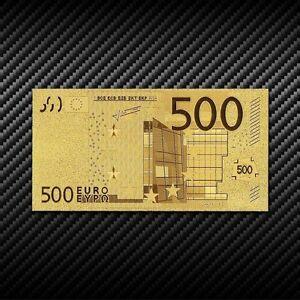 GOLD BANKNOTE - 500 € EURO - 24 Karat Gold - GOLDBARREN - GELDSCHEIN