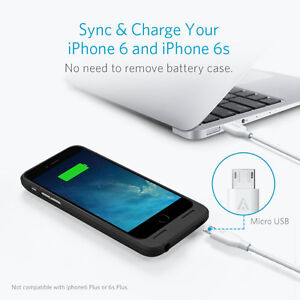 Phone 6 6S Battery Case, Anker Ultra Slim Extended Battery Case Cambridge Kitchener Area image 6