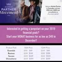 Start your MONAT Business with a $49 Option in December