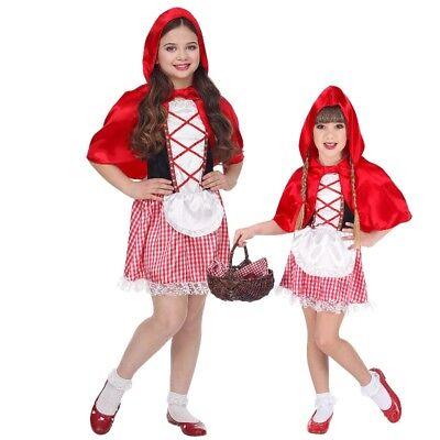 Kinder Märchen Mädchen Rotkäppchenkostüm  NEU Gr. 104-158 (Kinder, Rotkäppchen Kostüm)