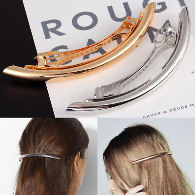 Sliver/Gold French Hair Clips Barrettes Accessories Clips Slides Hair Grip Clamp (Sliver Hair)
