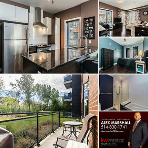 Modern Pointe-Claire condo with stainless appliances and garage!