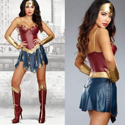 Classic Movie Wonder Woman Costume Kids Superhero Fancy Dress Cosplay - Kids Wonder Woman Costumes