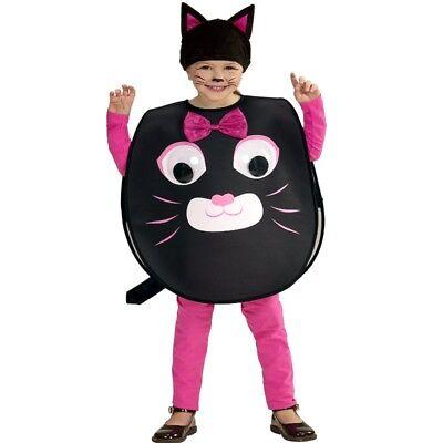 Cat Kleinkind Kostüme (KATZE Kostüm mit Riesenaugen Kleinkind Sweet little Cat für Kinder von 2-4 Jahre)