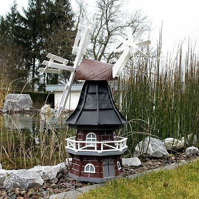 GARTENWINDMÜHLE OLIVIA 60 cm schwarz Garten Deko Mühle Windmühlen Dekoration