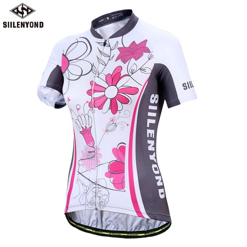 Damen Bike Shirt 100% Polyester Atmungsaktive Fahrradkleidung Sommer UV-Schutz