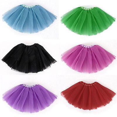 Neu Kid Ballett Kleid  Dancerock Tutu Kleidung Kostüm 10 Farben Infant Baby O0B1