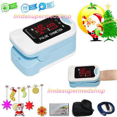 Pulse Oximeter Fingertip Blood Oxygen Saturation Monitor Contec Ledlanyardcase