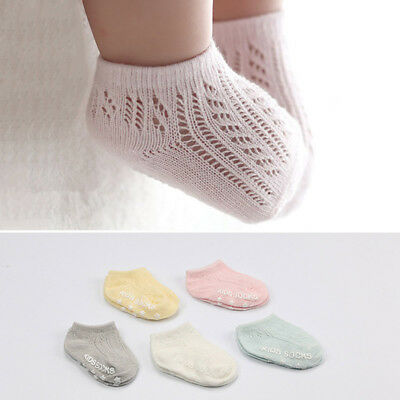 Baby Summer Short Mesh Socks Knitted Hollow Cotton Socks for Newborn Boys Kids ()
