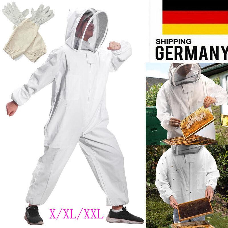 L/XL/XXL Imkeranzug Beekeeper Schutzanzug Hut Schleier Bienenzucht  Handschuh