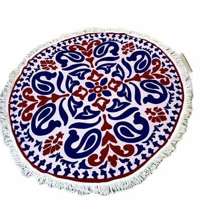 Better Homes and Gardens Americana Paisley Round Beach Towel LARGE