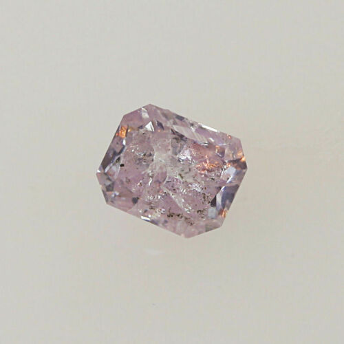 Pink Diamond Natural 0 .13 Ct Fancy GIA Certified Purple Color Radiant Cut Real 1