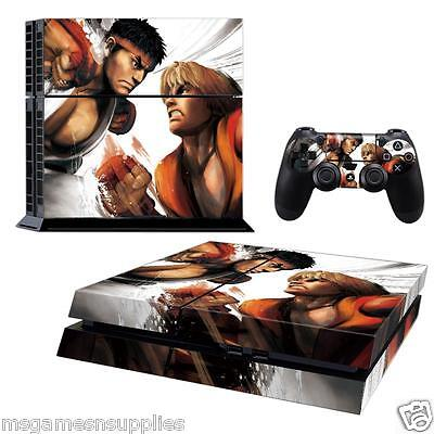 PS4 Playstation 4 Street Fighter Ryu Console Skin Decal Sticker 3M ULTRA QUALITY comprar usado  Enviando para Brazil