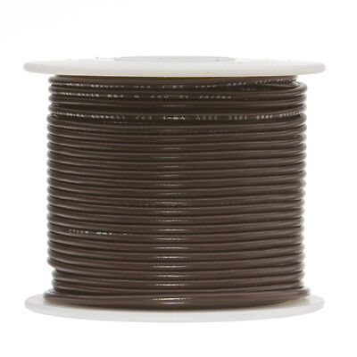20 Awg Gauge Solid Hook Up Wire Brown 250 Ft 0.0320 Ul1007 300 Volts