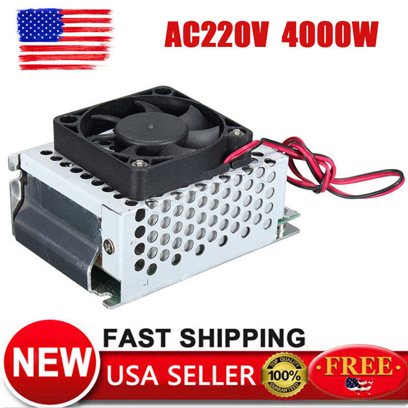 4000W AC110V 120V SCR Voltage Regulator Motor Speed Control Semiconductor Fan US
