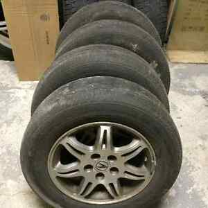 4 Dunlop all season 215 65 16+Honda rims5x114.3 CRV Accord Acura