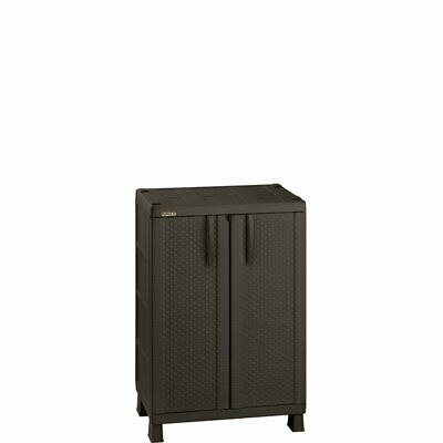 Rimax Brown Resin Rattan Compact Cabinet