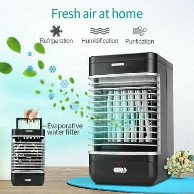 Low Noise Mini Air Conditioner Ice Water Home Cooler System Cooling Fan UK
