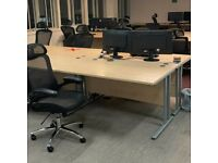 FREE SAME DAY DELIVERY - Beech Rectangular Cantilever Office Desk