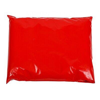 20 Premium 60mu Plastic Red 6.5 x 9 Inch Mailing Self Seal Postal Bags 161x230