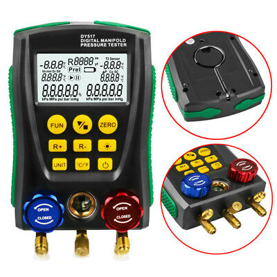 Digital Manifold Gauge Meter Hvac Vacuum Pressure Temperature Leakage Tester