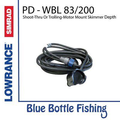 Lowrance / SIMRAD PD-WBL 83/200 kHz shoot-thru or trolling-motor mount skimme...