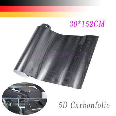 5D Carbon Carbonfolie Autofolie Folie Schwarz Tönungsfolien glänzend 30x152cm