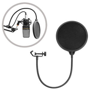Studio Microphone Wind Filter With Stand Clip Like New Singing