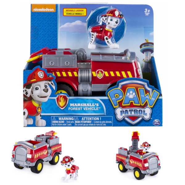 BNIB: Paw Patrol - Marshall's Forest Fire Truck Vehicle - Figure and Vehicle