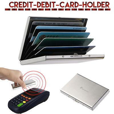 Men Women Aluminum Slim ID Credit Card RFID Protector Holder Purse Wallet