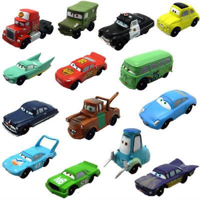 Set of 14 Pcs Disney Pixar Cars Lightning McQueen Mater Sally Luigi Figures Toys
