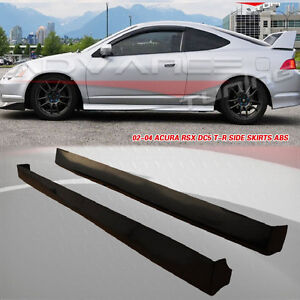 2002 - 06 Acura RSX DC5 Type R Style Side Skirts PP Black