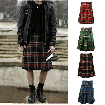 Herren Schottenrock Schotten Scottish Kilt  Rock Tartan kariert Karo - Herren Kilt Kostüm