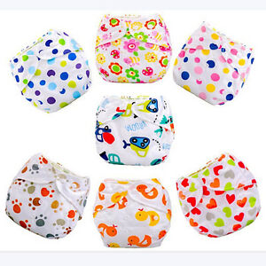 Bebé Niños Reutilizables Lavables Tela Pañal Cubierta De Pañales Regulable