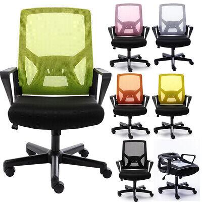 Ergonomic Home Office Folding Chair Computer Desk Mesh Chair Seat Lumbar Support