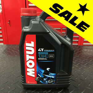 ★★ SUPER SALE ★★ Motul 3000 Premium 10W40 Motorcycle Oil 4T