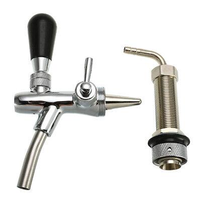 Adjustable 4 Inch Draft Beer Faucet G58 Tap Tower Flow Controller For Kegerator