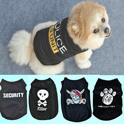 Small Puppy Costumes (Small Dog Puppy Cat Vest T-Shirt Coat Cute Pet Clothes Summer Apparel)