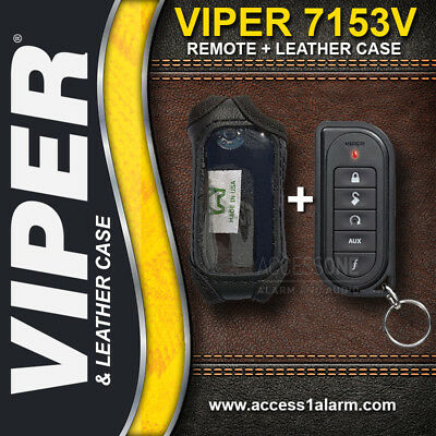 Viper 7153V 1-Way Remote Control WITH High Quality Leather Case For Viper 5204V