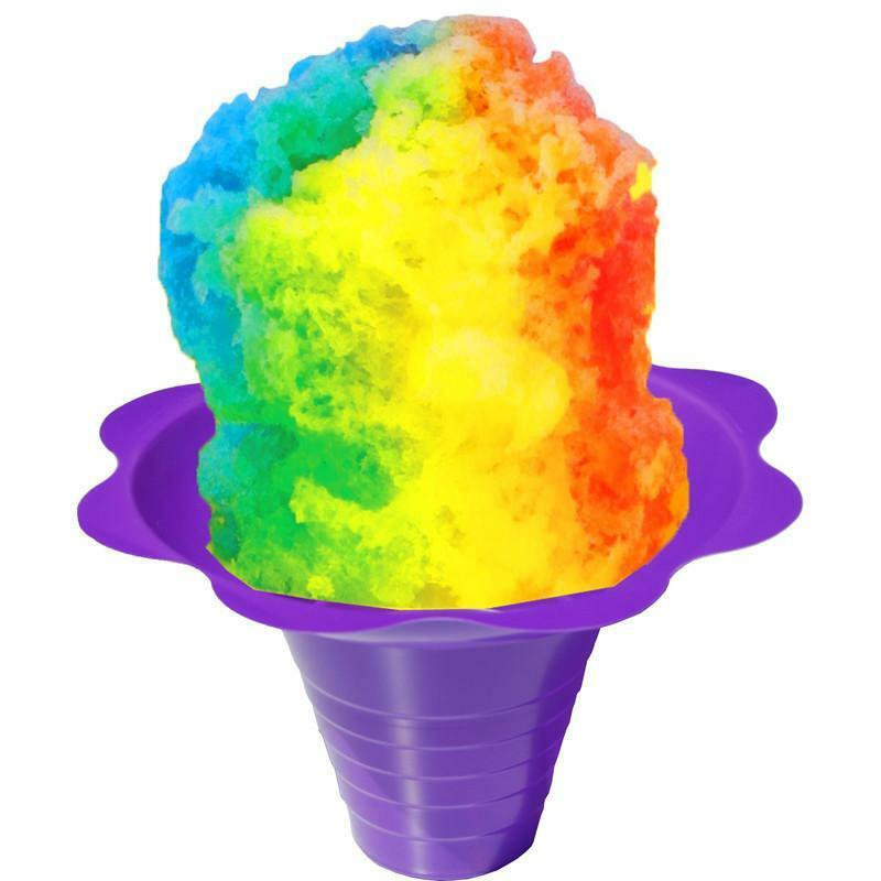 Flower Cups for Serving Shaved Ice or Snow Cones, Medium 8 Ounce, Case of 500