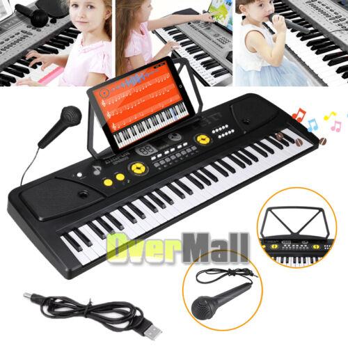 Full Size 61 Keys Electronic Keyboard Digital Music Piano wi